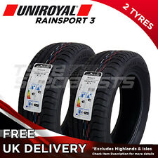 "2x NEW 205 55 16 UNIROYAL RAINSPORT 3 205/55R16 91V (2 TYRE) ""A"" WET GRIP TYRE"