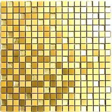 Mosaik Aluminium Glasmosaik mix gold Fliesenspiegel Küche Art: 49-a307 10 Matten