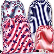 Zainetto sacca zaino mare stelle strisce fantasia bandiera americana D0683 D0684