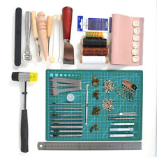 1 Set Diy Leather Tools Kit Hand Stitching Sewing Punch Carving Stamp Craft Set