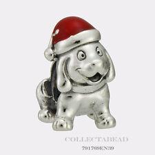 Authentic Pandora Sterling Silver Enamel Christmas Puppy Bead 791769EN39