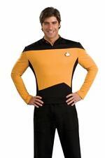 Star Trek The Next Generation Yellow Command Captain Adult Deluxe Costume Shirt