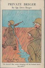 WWII Patriotic Artist Drawn Private Breger by Sgt Dave Breger