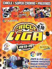 CHICLES DE LA LIGA ESTE 2013/2014 ESCOGE 10 CROMOS DEL LISTADO