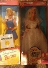 Set of 2 Walmart Special Edition Barbies.  Shopping time & country wedding NRFB