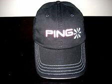 Ping Golf Equipment Womens Slouch Adjustable Logo Cap Hat Black Pink Free Ship
