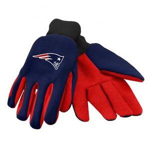 New England Patriots Blue/Red 2-Tone Team Logo Licensed NFL Sport Utility Gloves
