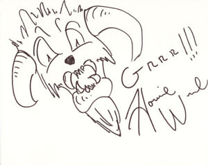 HOWIE WEED SIGNED AUTOGRAPHED WAMPA ART SKETCH STAR WARS RARE BECKETT BAS