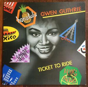 """GWEN GUTHRIE LP - """"TICKET TO RIDE"""" 1987 -  ISLAND AUSTRALIA , PROD. SLY & ROBBIE"""