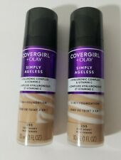 2 CoverGirl Olay Simply Ageless 3-in-1 Liquid Foundation Soft Honey 255
