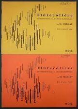 FLUTECOLIERE - INITIATION MUSICALE FLUTE A BEC 2 LIVRES MAITRE CHANTS POPULAIRES