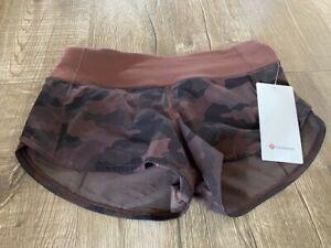 Lululemon Speed shorts size 4 NWT