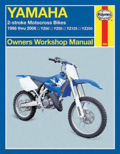 Haynes 2662 1986-2006 Yamaha YZ 80-250 2-Stroke Maintenance Service Shop Manual