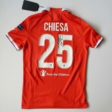 2016-17 Fiorentina Third Shirt Federico Chiesa SIGNED Le Coq Jersey SMALL NEW