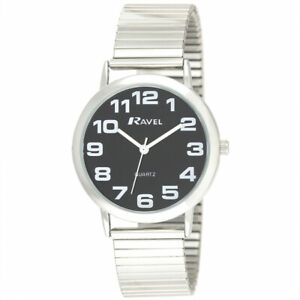 Gents  BOLD Stainless Steel Soft Expandable Bracelet Strap Watch R0208.03.1