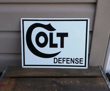 COLT FIREARMS CO. DEFENSE Metal Sign Hunting Rifle Revolver Bullet 9x12 50090