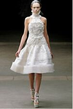 Alexander McQueen Runway 38 White Silk Embroidered $31,000 Wedding with Shoes 37