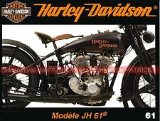 HARLEY DAVIDSON 1000 Modèle JH 61 ; Chopper ; HD et MV AGUSTA Story ; MOTO