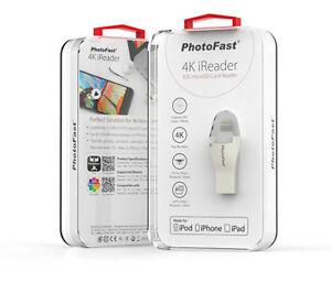 PhotoFast 4K iReader Lightning + USB 3.0 iOS Micro SD Card Reader