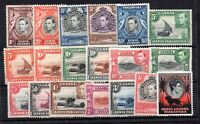 British KUT KGVI 1938-50 Definitive mint MH set to £1 SG131-152B no 10/- WS19588
