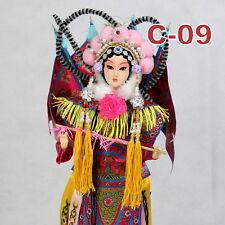 C-09 China Peking Oper chinesisch Puppe Figur Seide 31 cm Neu Geschenkidee OVP