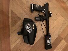 Black Invert mini electric paintball gun and electric hopper