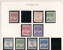 1913 Greece/Grecia, n° 239/248  9 valori  MH/*