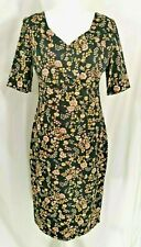 Joe Browns Fitted Wrap Dress Size 12 Wiggle Floral Tea Cotton