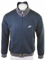 NIKE Mens Tracksuit Top Jacket UK 42 Large Navy Blue Polyester  AO11