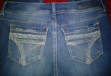 Seven 7 Womens Jeans Size 8 Rocker Slim Mid Rise Boot Cut Dark Wash Denim
