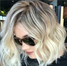 Short Womens Ladies Curly Wavy Brown Blonde Bob Hair Wigs Style Natural Styling
