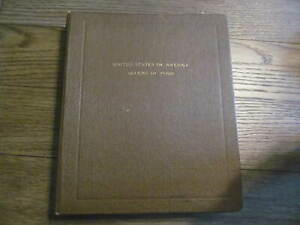 VINTAGE ALBUM WITH 26 PAGES OF BLOCKS OF 4 MINT CONDITON STAMPS
