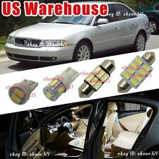 7-pc Luxury White LED Light Interior Package Lamp Dome Kit For Audi A4 or S4 B5