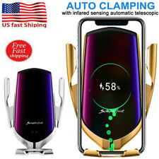 Automatic Clamping Qi Wireless Fast Car Charger Mount Air Vent Phone Holder Us