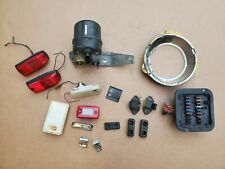 NISSAN DATSUN 280 ZX INTERIOR PARTS FUSE BOX LIGHTS HOOKS AND OTHER PARTS LOT