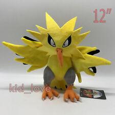 "Pokemon Sun/Moon Zapdos Plush Soft Toy Doll Teddy Stuffed Animal 12"""