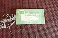 Etiquettes Bagages A oeillets  Américain et Ficelle Carnet de 10 vintage Réf 222