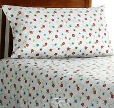 New Twin Turkish Flannel 3-Piece Floral Sheet Set w/ Flowers 100% Cotton
