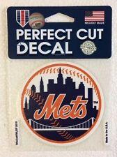 "New York Mets 4"" x 4"" Circle Logo Truck Car Auto Window Die Cut Decal Team Color"