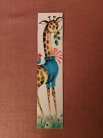 Very Rare VINTAGE 1950s 1960s Hallmark Bookmark Giraffe with Little Bird