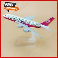 EVA Air Hello Kitty Airlines Airbus 380 A380 16cm Airplane Model Plane PINK