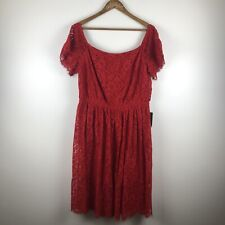 Express Dress Red Lace Off Shoulder Sheath Party Dress Holiday Valentines XL