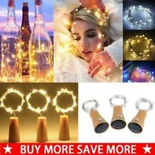 10/20 LED Solar LED Fairy String Lamp Wine Bottle Copper Cork Party Lights Decor