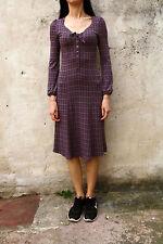 Marlboro Classics Summer Purple Flower Dress Abstract Design Stretch S Small FAB