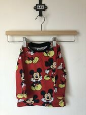 Disney Baby Mickey Mouse Red Long Sleeve Top, Size 6-9 Months, Embroidered
