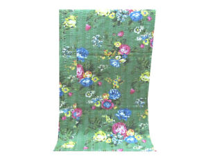 Cotton Soft Quilt Kantha Quilt Shalimar Print Cotton Quilt Bedding Throw Twin