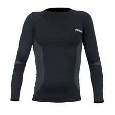 ARMR Moto Thermal Motorcycle Base Layer Motorbike Under Top Sports Shirt Black L/xl