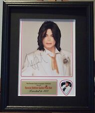 Michael Jackson Preprinted Autograph & Guitar Pick Display Mounted & Framed