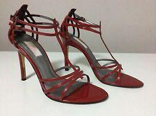Jlo (Jenifer Lopez) Women's Red Patent Leather Strappy Sandal Heels Size 7.5