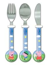 Peppa Pig George 3 Piece Cutlery Set, Blue